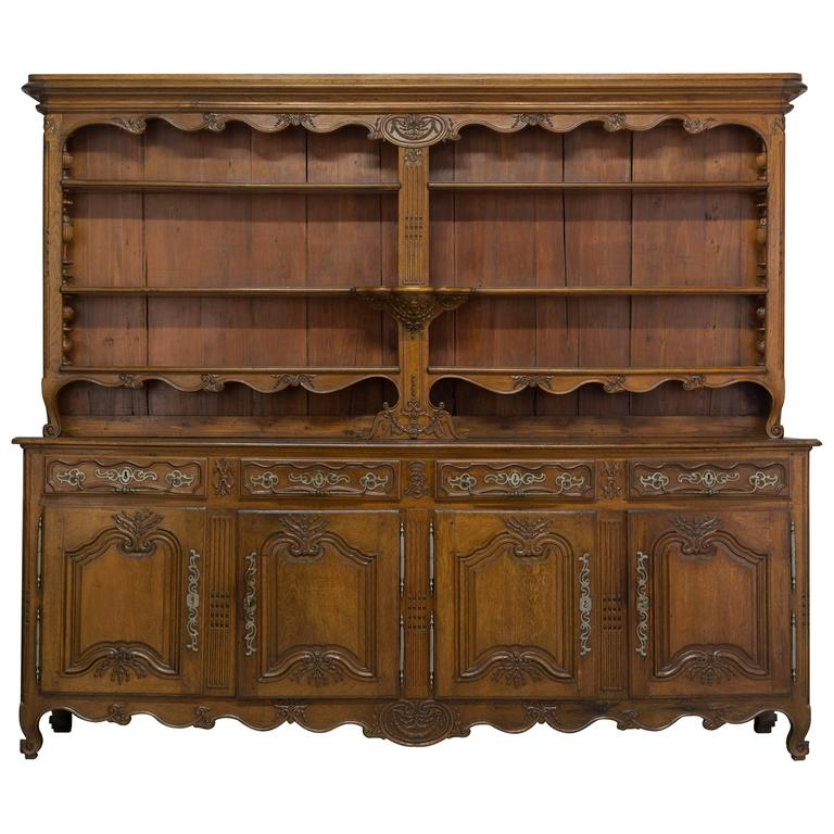 18th Century Louis XV Buffet Vaisselier or Sideboard