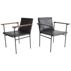 Pair of Minimal Designed Side Chairs, France, 1950s