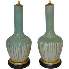 Monumental 1930s Royal Arden Hickman Pottery Table Lamps