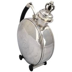 Danish Silver Hunting Flask