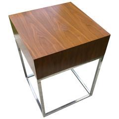Modern Side Table on a Chrome Base