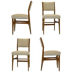 Set of Four Walnut Dining Chairs by Gio Ponti M. Singer & Sons