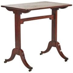 1760s Georgian Mahogany Side Table on Castors