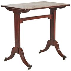 1760s Georgian Mahogany Side Table on Castors