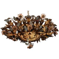 Beautiful and Rare French Flower flush Lights in the Style of Maison Baguès