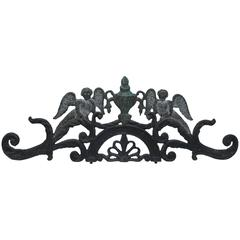 Early Cast Iron Gate Top with Angels