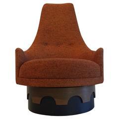Fun Adrian Pearsall High Back Swivel Lounge Chair