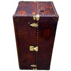 Louis Vuitton Antique Leather Wardrobe Steamer Trunk