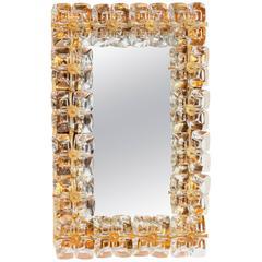 Amazing Gilded Illuminated Mirror by Palwa 'Palme and Walter,' Germany, 1970
