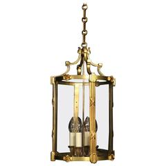 French Gilded Four-Light Antique Hall Lantern