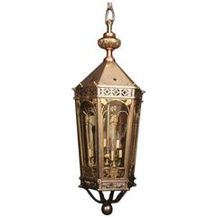 English Monumental Six-Light Antique Lantern
