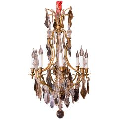 Late 19th Century Ormolu and Crystal Chandelier Attributed to Baccarat