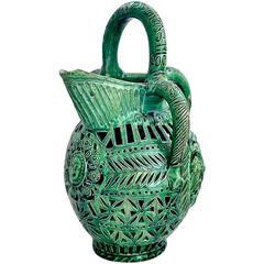 Unique 16th Century French Ceramic Decanter