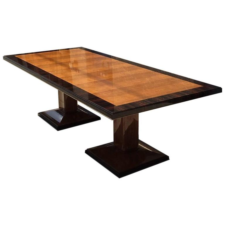 Double Pedestal Dining Table For
