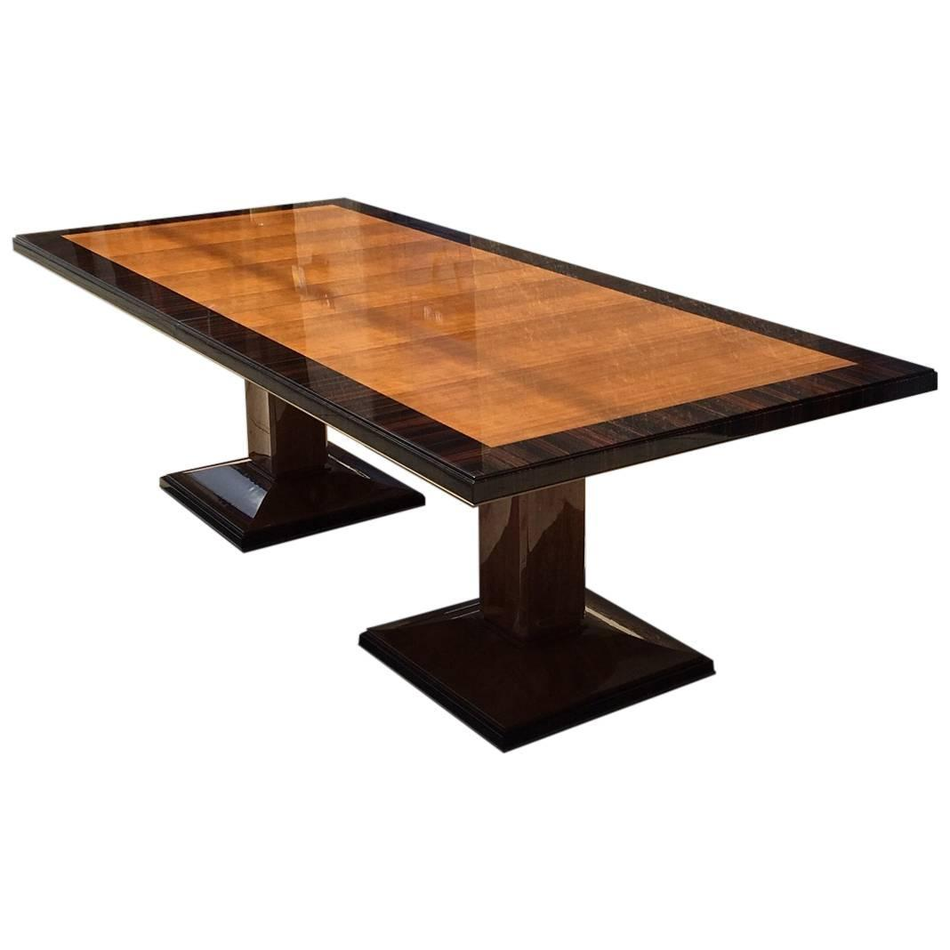 double pedestal dining table for sale at 1stdibs