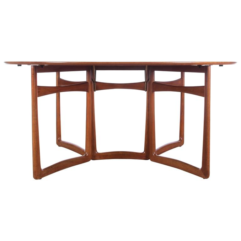 Mid Century Modern Teak Folding Dining Table By Hvidt And Mølgaard Nielsen Model For