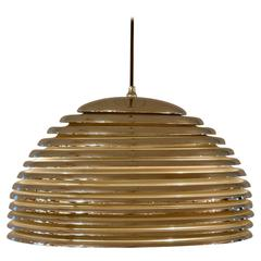 Chrome Spherical Pendant by Motsowa 1960 with Diffused Light
