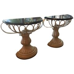 Charming Vintage Demilune Tables