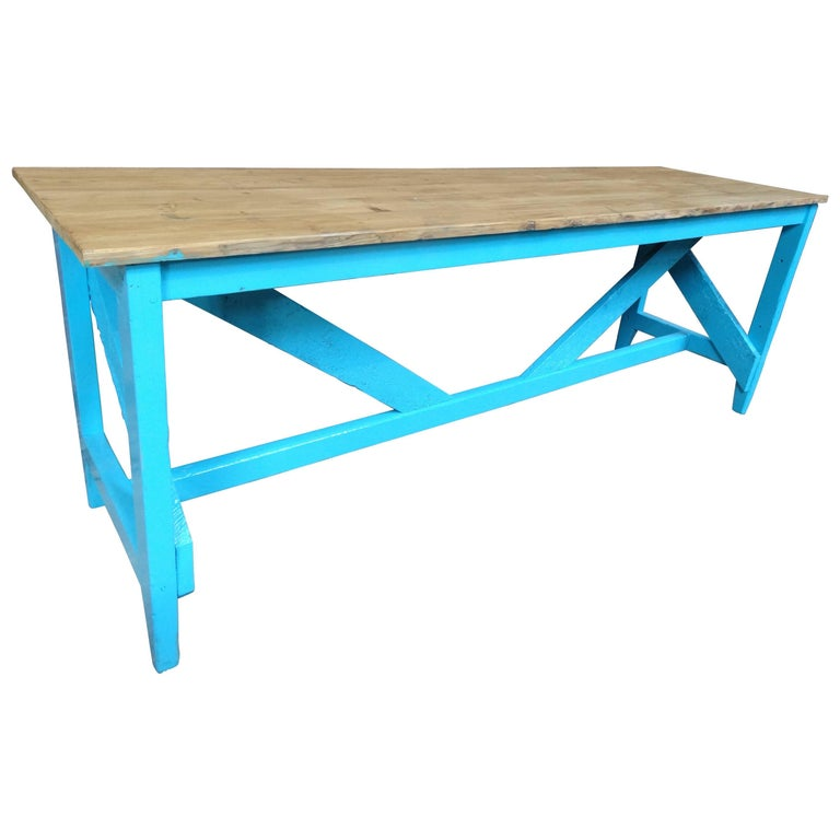 1910s Large Kitchen Table or Shop Display For Sale