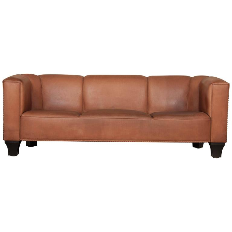 Leather Sofa By Austrian Designer Josef Hoffmann For