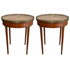 Pair of Louis XVI Style Round Side Tables
