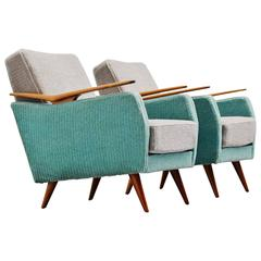 Gio Ponti Style Club Chairs, Italy, 1950