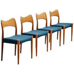 Arne Hovmand Olsen Mogens Kold Dining Chairs, Denmark, 1960