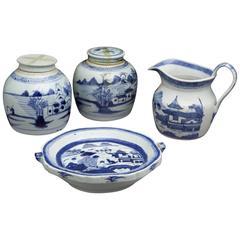 Antique Blue/White Canton Export Porcelain