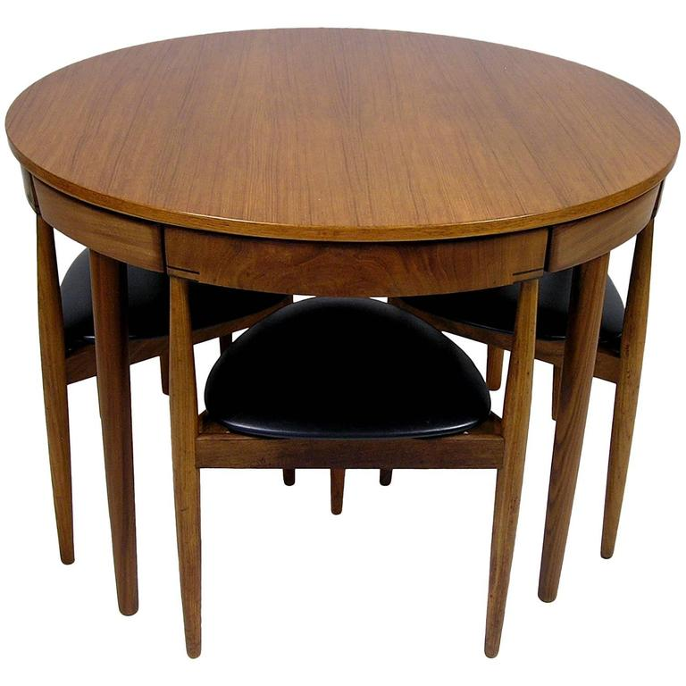 1950s Hans Olsen Teak Dining Table and Chairs, Denmark at 1stdibs