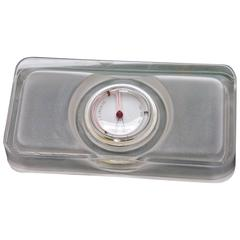 Sculptural Object Glass Slab Temperature Gauge Thermometer