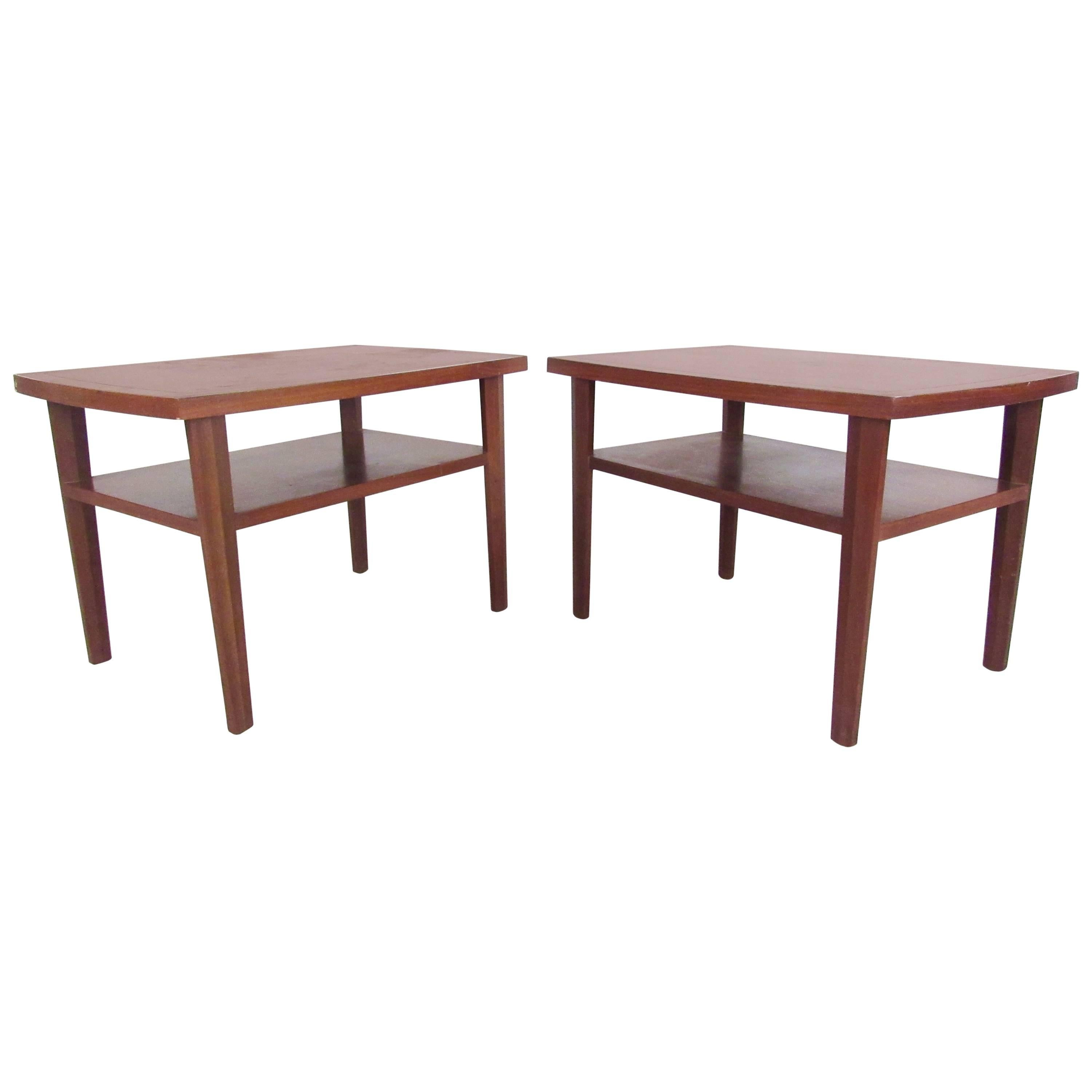 Pair End Tables after George Nakashima for Widdicomb
