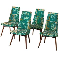 Set of Four Dining Chairs by Adrian Pearsall in Walnut