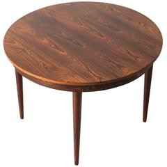Hans Olsen Rosewood Dining Table with Two Leaves