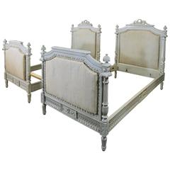 Pair of 19th Century French Neoclassical Painted Twin Beds