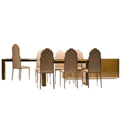 Spectacular Dining Room Set, Alain Delon for Maison Jansen