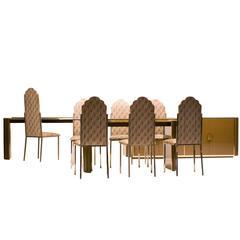 Spectacular Dining Room Set, Alain Delon for Maison Jansen