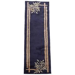 Large Art Deco Themed Wool Runner Rug