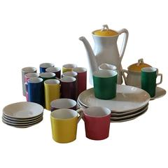 Mid-Century Modern Metasco Porcelain Coffee, Tea & Dessert Service