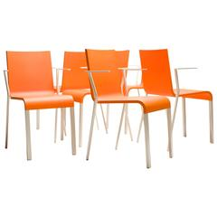 Maarten van Severen .03 Armchairs, Limited Edition in Bright Orange