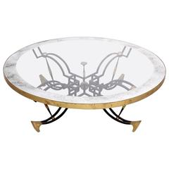 Round Cocktail Coffee Table Attributed to Arturo Pani