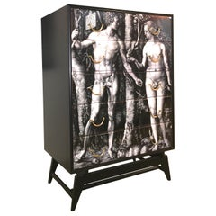 Adam & Eve Lithograph Chest of Drawers