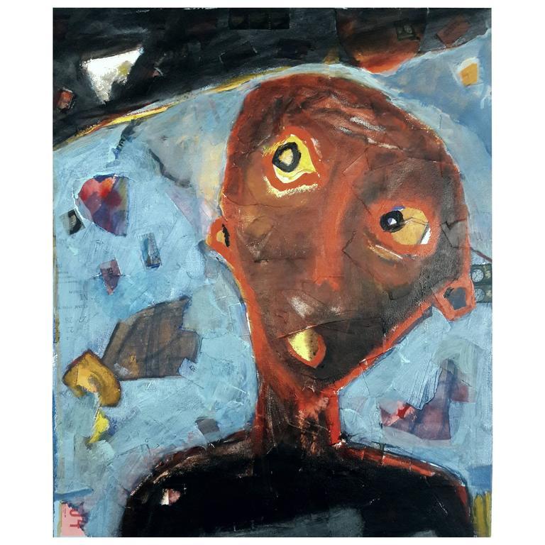 """Mark Palmer """"Hark"""" Painting Mixed-Media, 2015"""