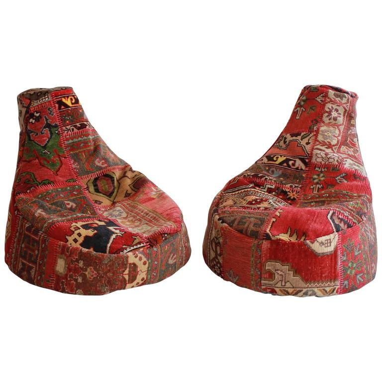 Vintage Turkish Beanbags