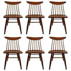 Set Of Six Russel Wright For Conant Ball Dining Chairs