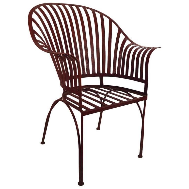 Iron Strap Garden Chair