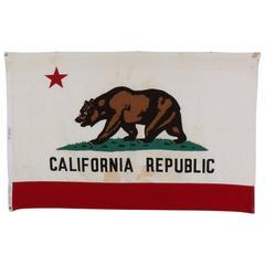 Vintage Cotton California Flag, circa 1960s