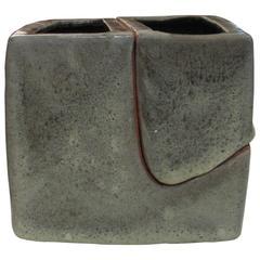 Original Vase by Pierre Culot, Belgian Ceramicist, Signed