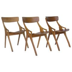 1958, Arne Hovmand-Olsen, Oak 1950s Dining Chair