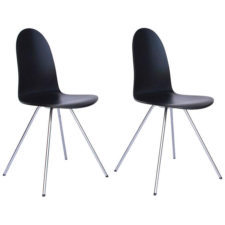 1955, Arne Jacobsen, Tongue Chair Black Lacquered