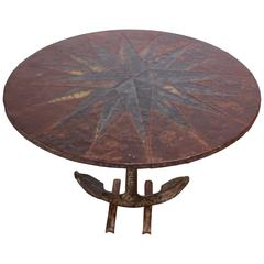 Mid-20th Century Mixed-Metal Nautical 'Anchor' Dining Table